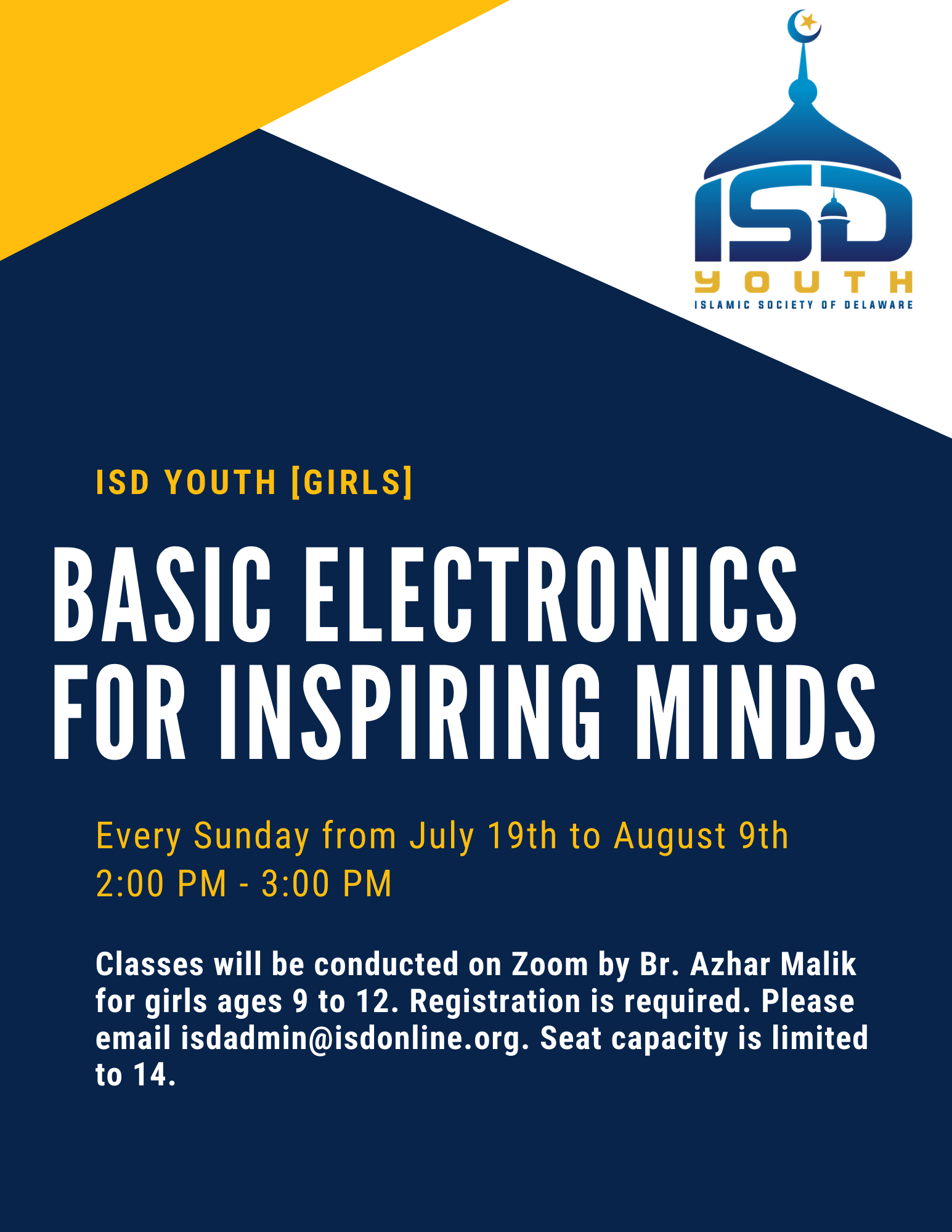 Youth Girls: Basic Electronics for Inspiring Minds