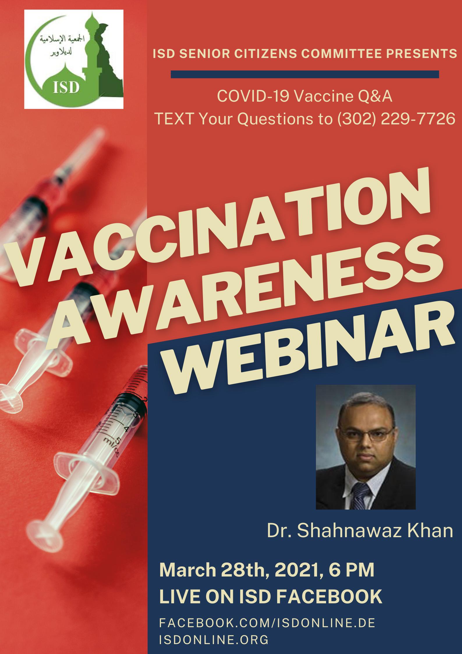COVID-19 Vaccination Awareness Webinar