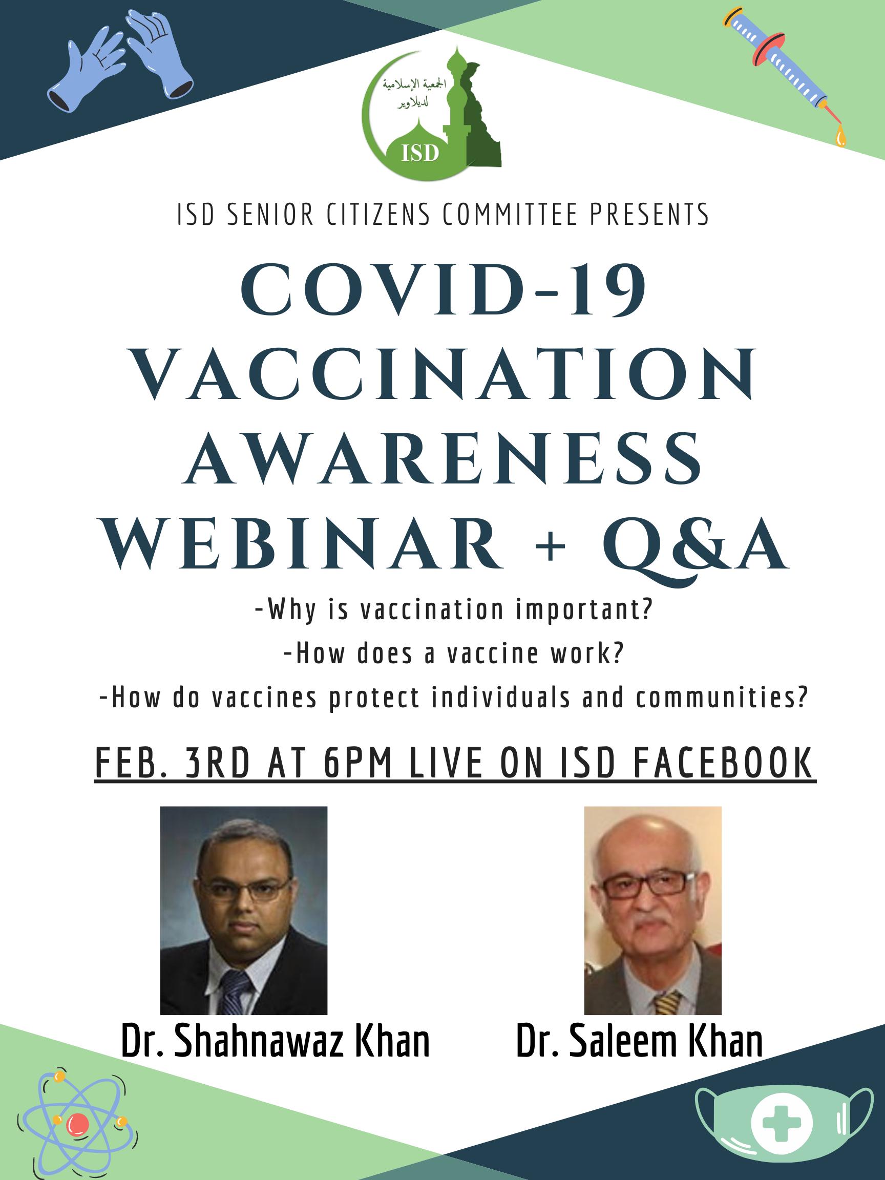COVID-19 Vaccination Awareness Webinar + Q&A