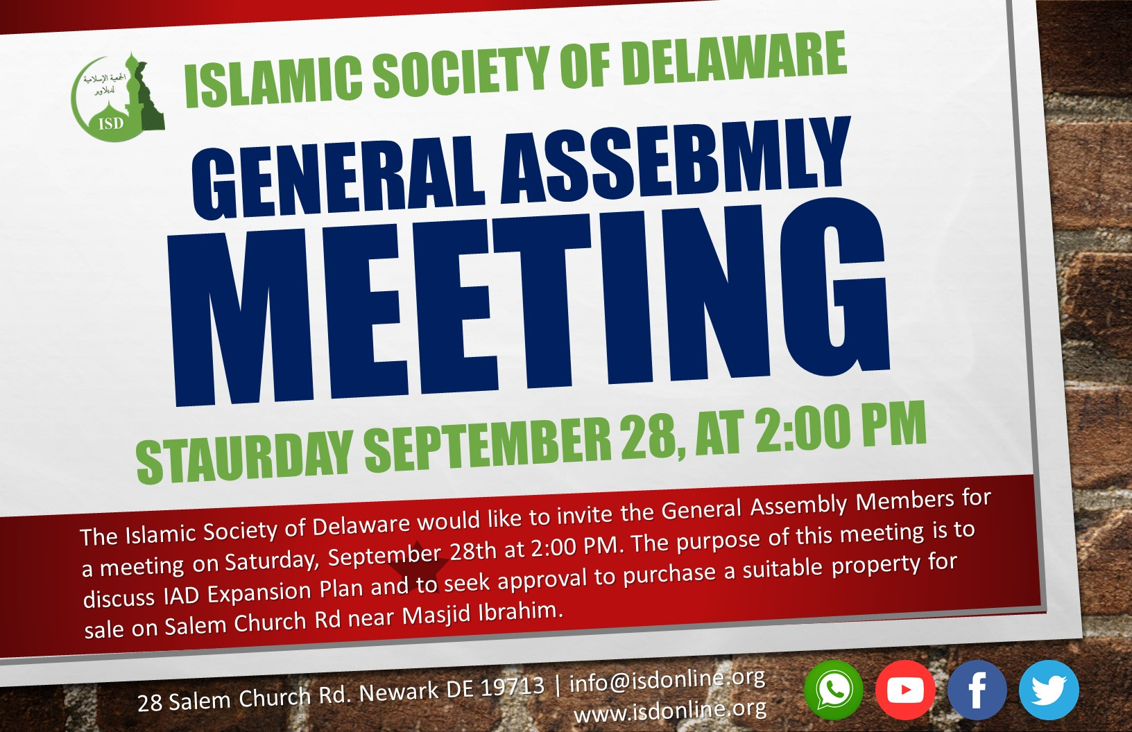 ISD General Assembly Meeting