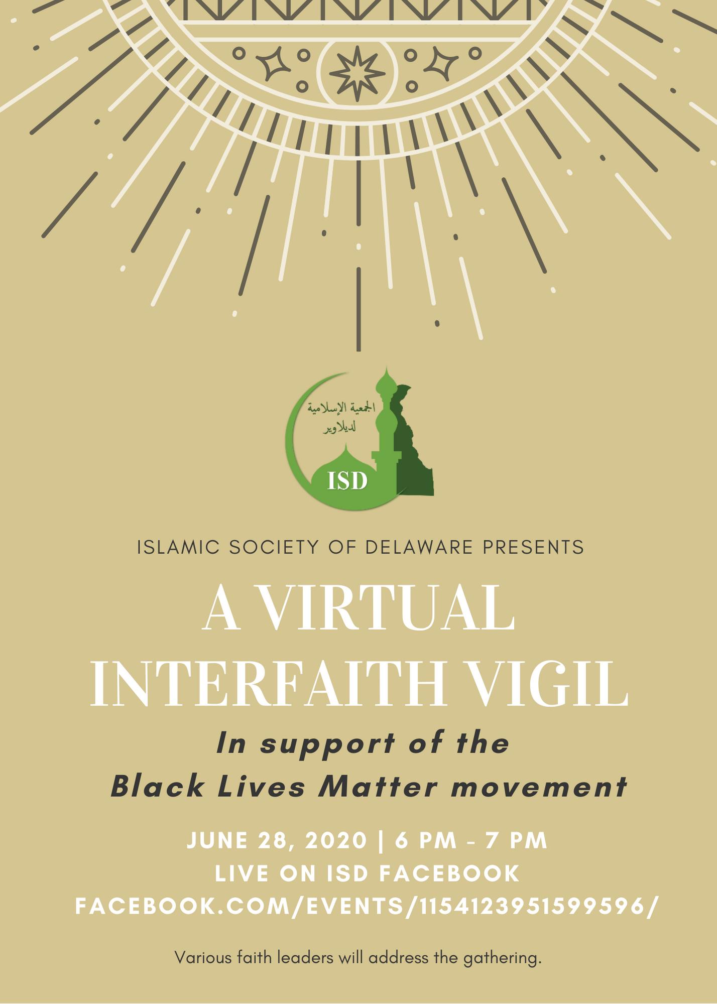 A Virtual Interfaith Vigil