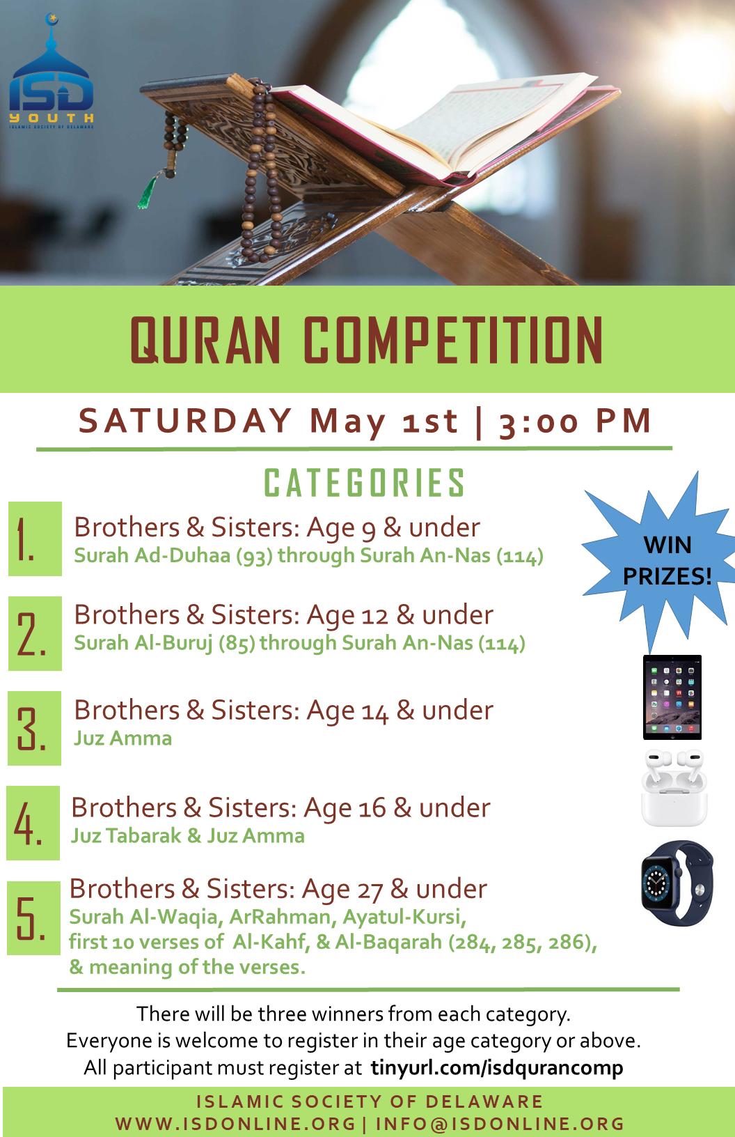 Quran Competition at Masjid Ibrahim