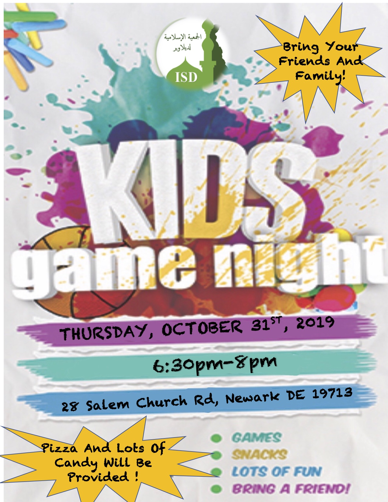 ISD Youth Game Night