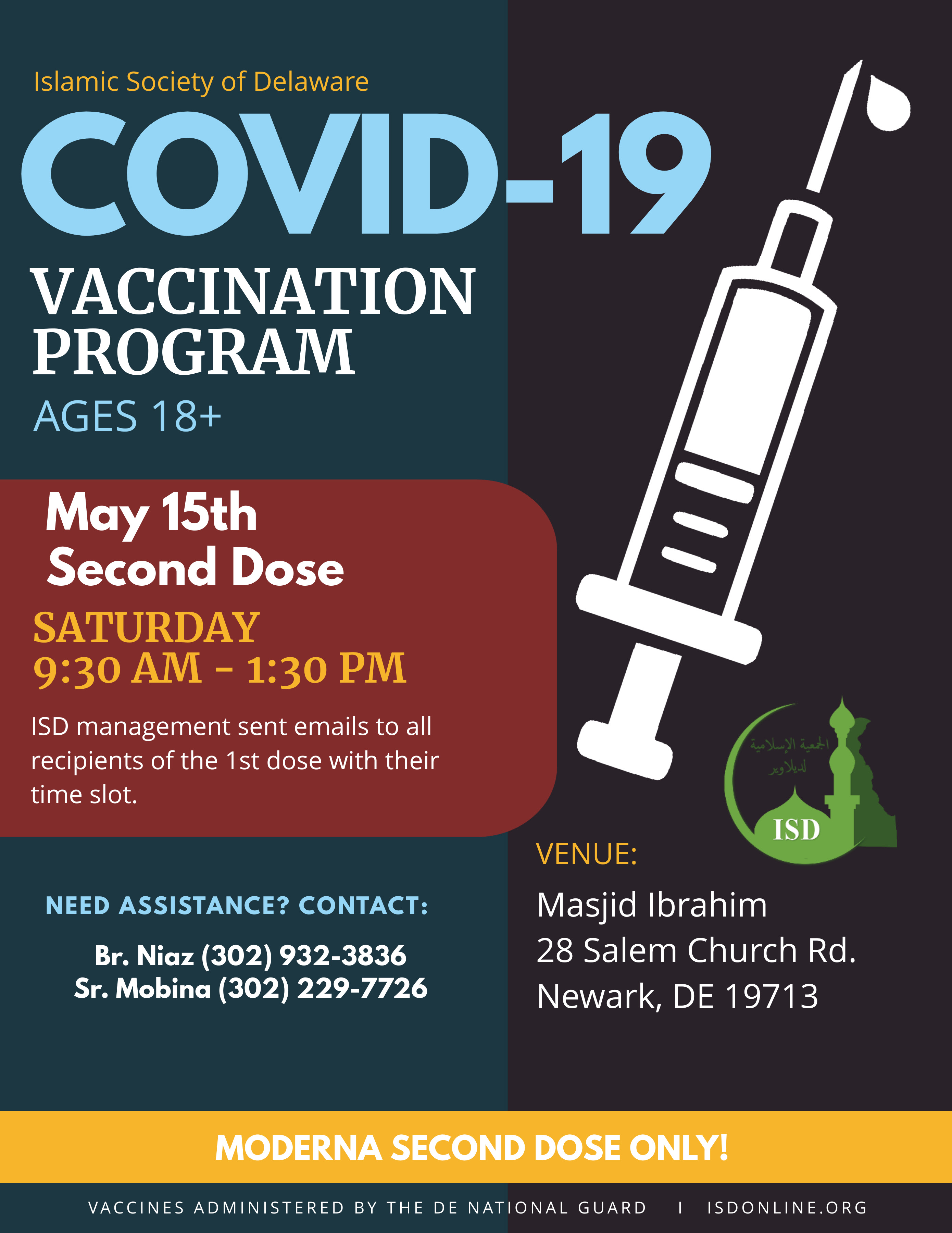 18+ COVID-19 Vaccination Event at ISD