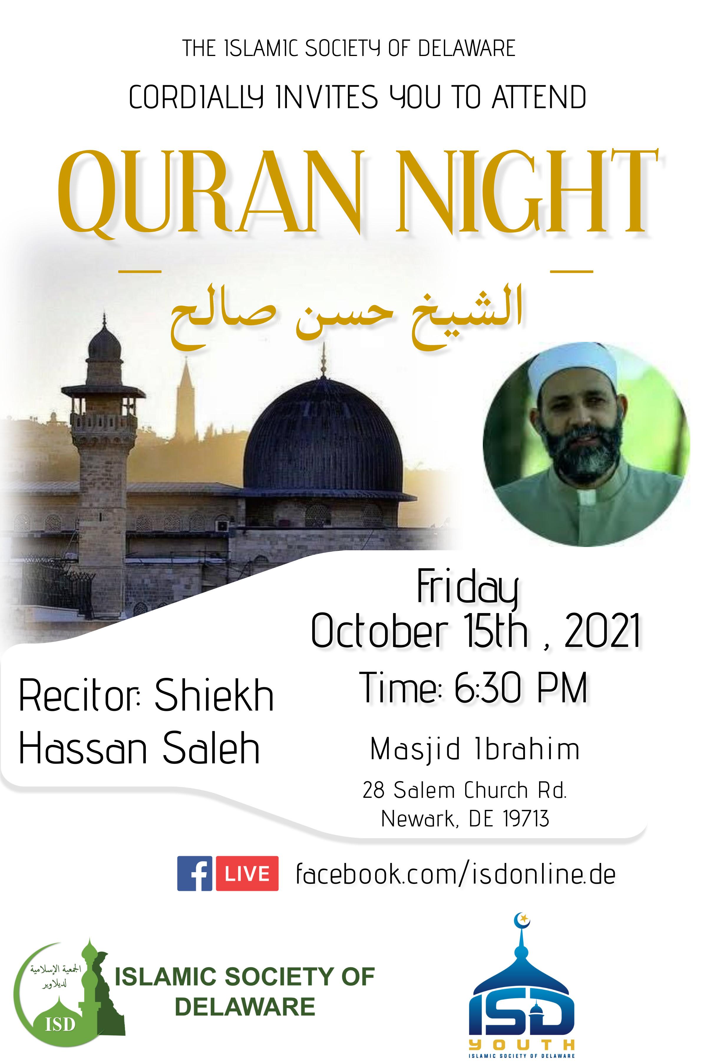 Quran Night with Shiekh Hassan Saleh