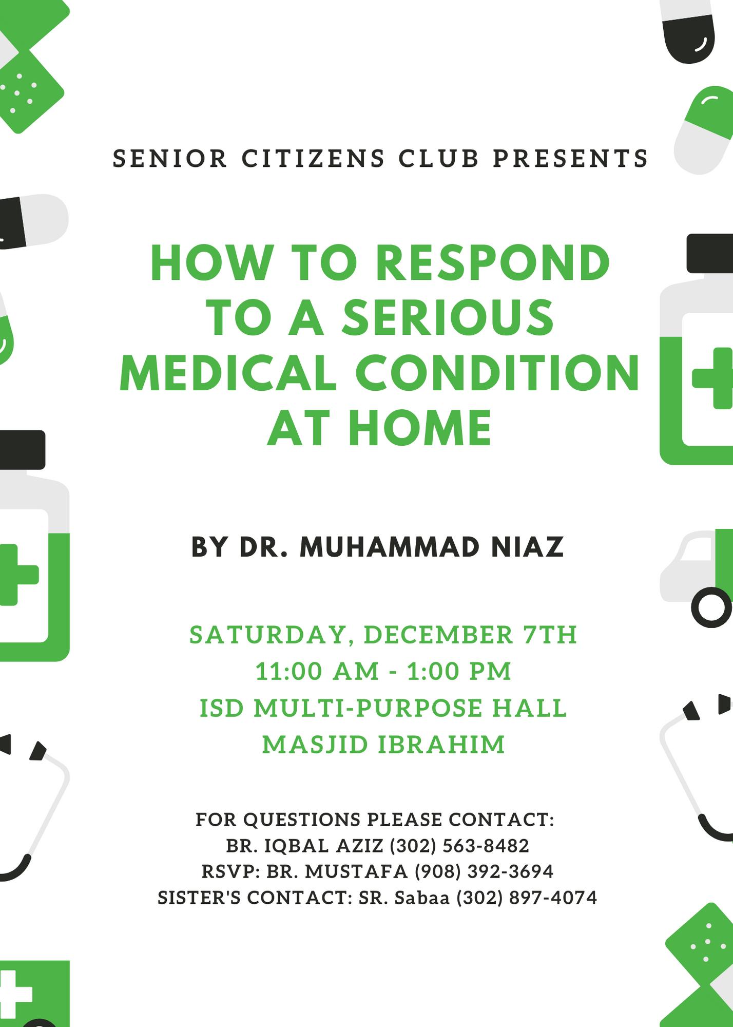 Senior Citizens Health Event