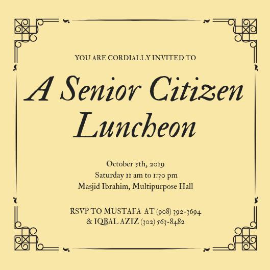 Senior Citizen Luncheon