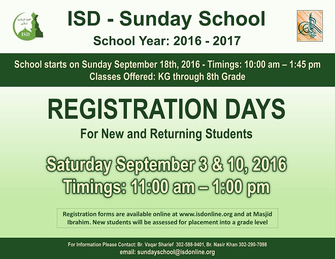 SundaySchoolRegistrationDays2016